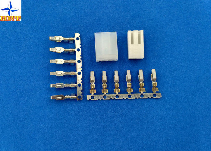 Wire Connector Terminals Pitch 3.96mm With Brass / Phosphor Bronze Contact for Molex 3069 Housing